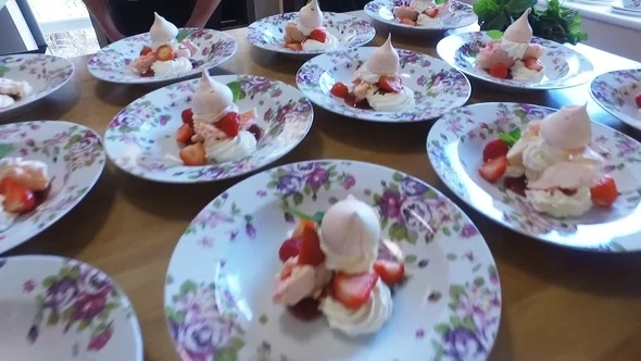 Delicious desserts at Acorn Court Care Home