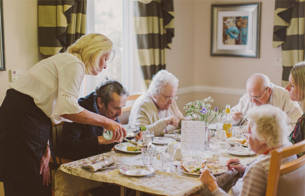 Dining at Acorn Court